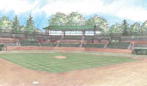 Artist rendering of the new McLane Baseball Stadium